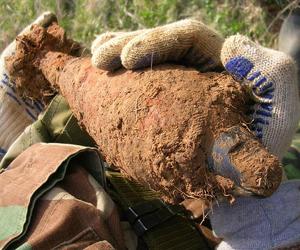 В Железногорске на стадионе нашли мину