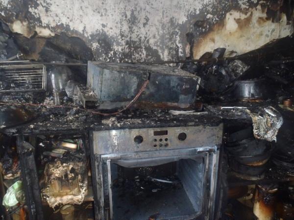 В Курске сгорела квартира на проспекте Клыкова
