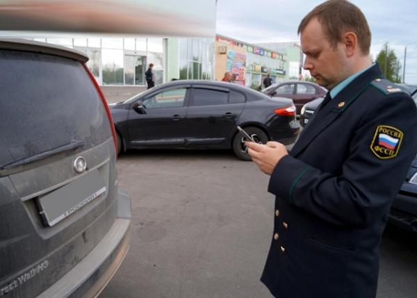 Судебные приставы впроцессе рейда арестовали задолги автомобиль «BMW 525»