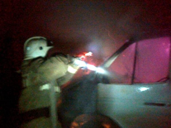 ВКурской области сгорела «Газель»