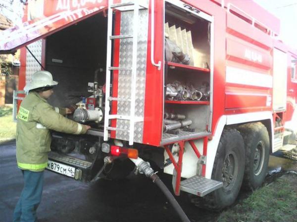 ВКурской области сгорел автомобиль «ЗИЛ 130»