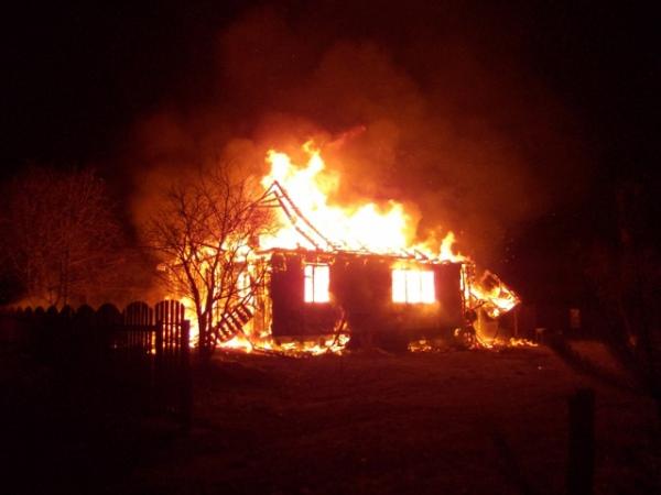 ВКурской области пожар забрал жизнь человека