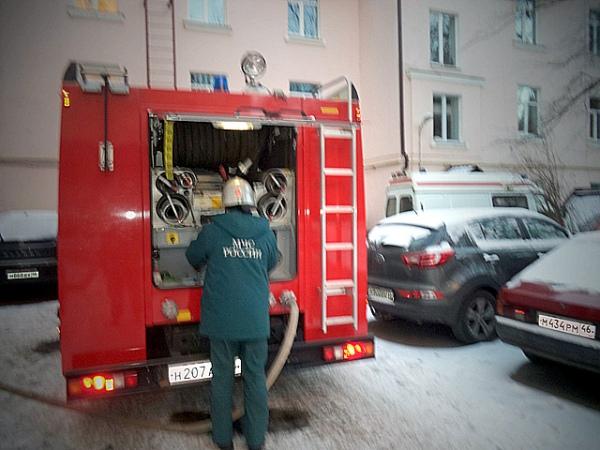 Рано утром ввоскресенье вКурске впожаре умер мужчина