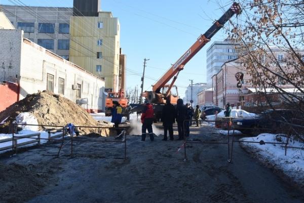 ВКурске произошла еще одна авария натеплотрассе