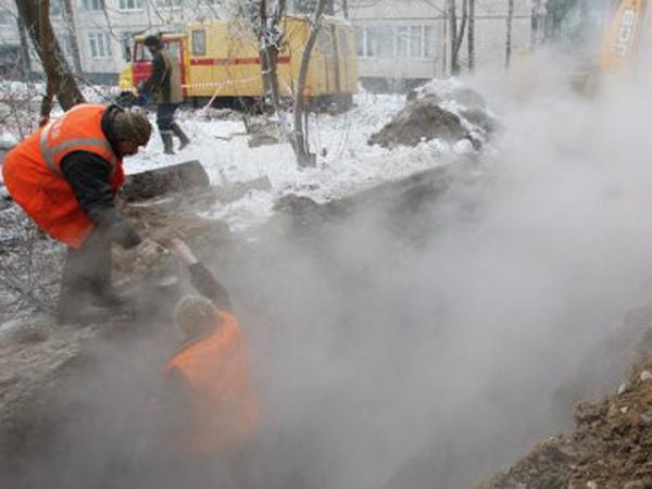 Вцентре Курска натеплотрассе произошла авария