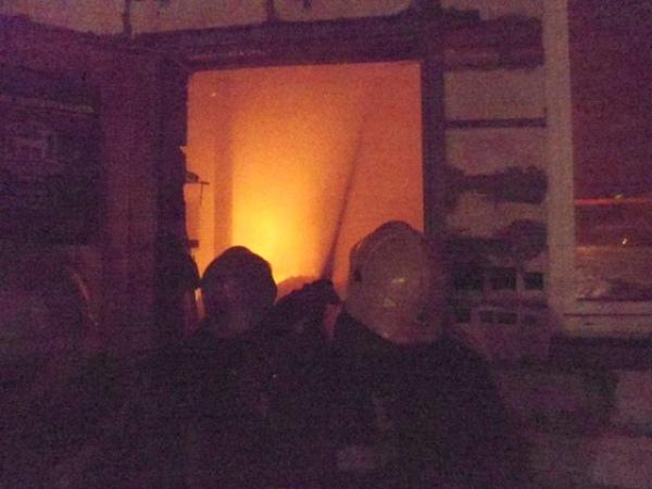 На ПЛК сгорел двухэтажный гараж