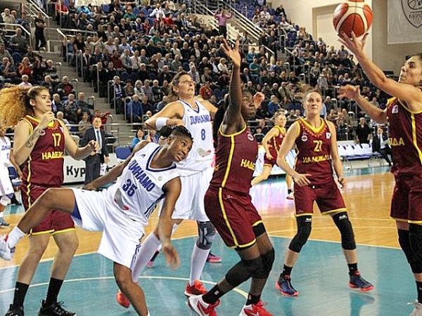 Баскетболистки курского «Динамо» навыезде разгромили «Надежду» вматчеЧР