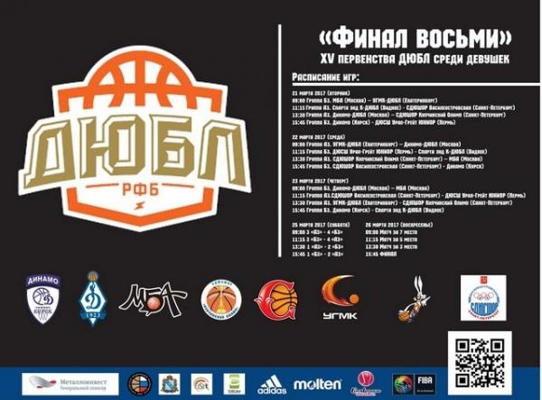Курская команда «Динамо-Юниор» выиграла чемпионат Детско-юношеской баскетбольной лиги
