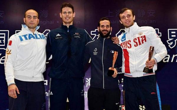 Рапирист Жеребченко стал бронзовым призером этапа «Гран-при» вШанхае