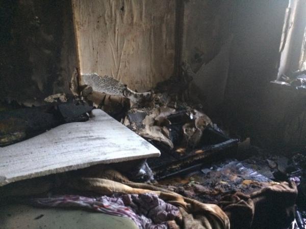 ВКурске ночью произошел пожар вквартире
