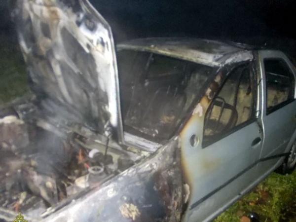 Ночью вКурске горел автомобиль «Рено Логан»