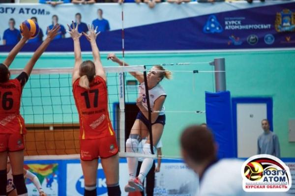 Курские волейболистки дважды обыграли липецкий «Индезит»