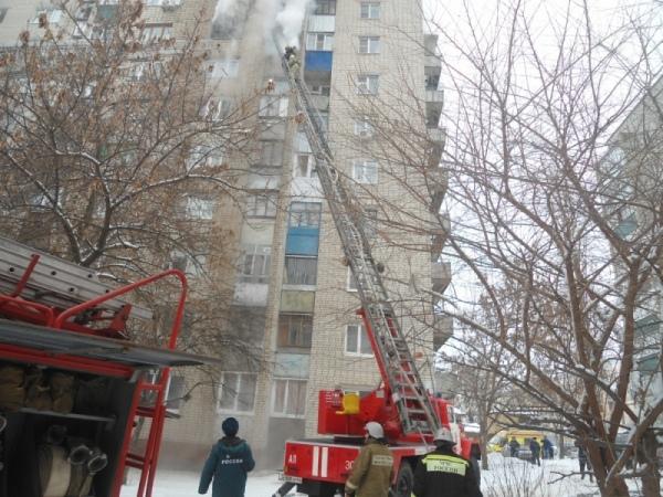 ВКурске горела квартира на8 этаже многоэтажки. Спасены 18 жильцов