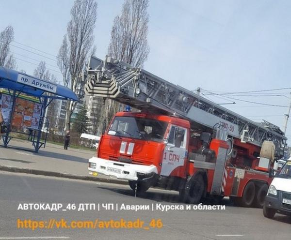 В Курске в ДТП попал пожарный КАМАЗ