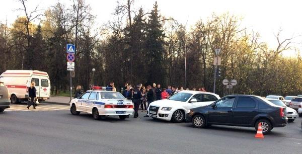 В центре Курска в ДТП пострадал ребенок
