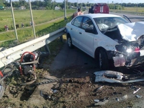В Фатежском районе в ДТП пострадали мотоциклист и его пассажир
