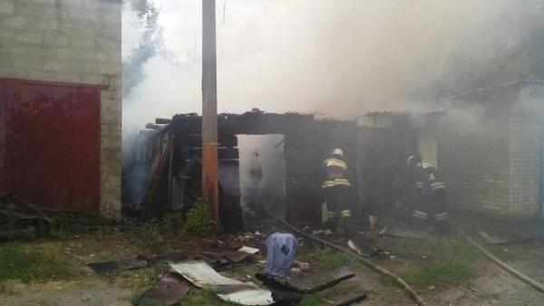 Во Льгове в пожаре пострадал подросток
