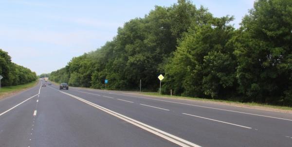 В Курском районе отремонтировали участок трассы М-2 «Крым»