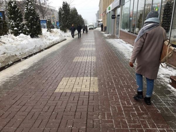 В Курске из-за гололеда резко выросло число уличных травм