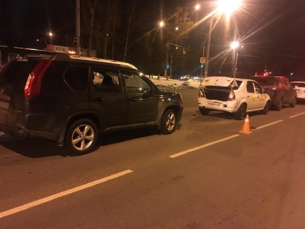В центре Курска в ДТП по вине нетрезвого водителя пострадала женщина