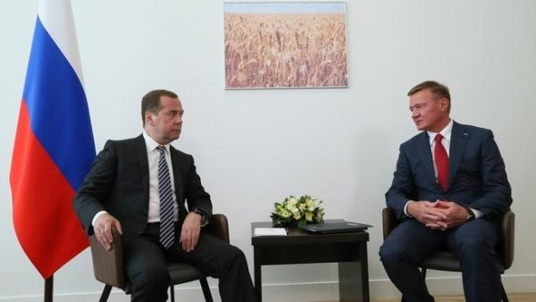 Медведев вКурской области проведет совещание остимулировании экспорта сельхозпродукции