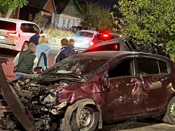 Курск. Массовая авария на Бурцевке