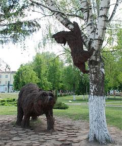 медведь из прутьев, город Орёл