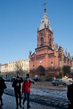 Некогда на улице Ленина располагалась лютеранская церковь