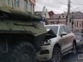 Курск. ВИДЕО момента аварии с участием БТРов