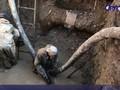 Прорыв канализации в центре Курска и ликвидация последствий аварии