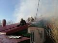 В Курске горел дом на улице Новой Запольной